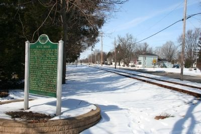 Erie and Kalamazoo Rail Road / Rail Road Marker image. Click for full size.