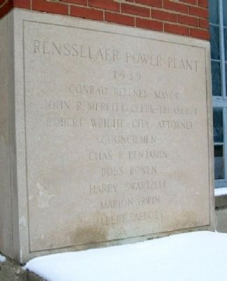 Rensselaer Power Plant Marker image. Click for full size.