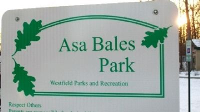 Asa Bales Park Sign image. Click for full size.