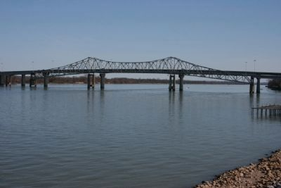 The Keller Memorial Bridge crossing the Tennessee River. image. Click for full size.