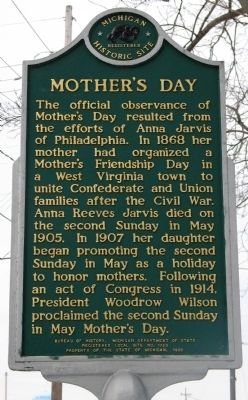 Mother's Day In Albion Marker (Reverse) image. Click for full size.