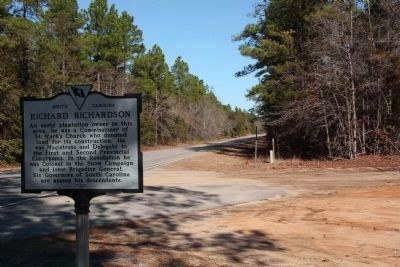 Richard Richardson Marker looking north along Camp Mac Boykin Road image. Click for full size.