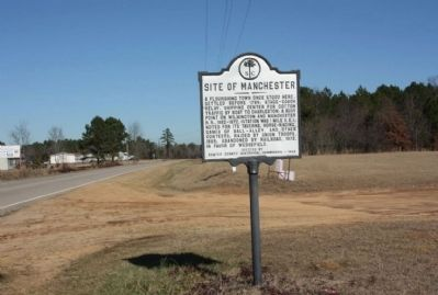 Site of Manchester Marker, looking north along South Kings Highway (State Road 261) image. Click for full size.