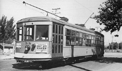 Fresno Trolley Car - Same Model as on Marker image. Click for full size.