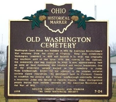 Old Washington Cemetery Marker image. Click for full size.
