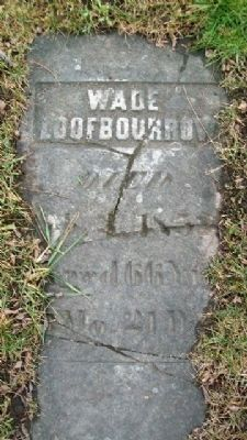 Wade Loofborough/Loofbourrow Grave Marker image. Click for full size.