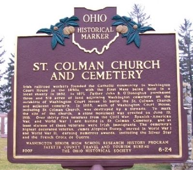 St. Colman Church and Cemetery Marker image. Click for full size.
