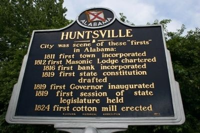 Huntsville Marker image. Click for full size.