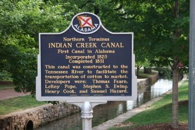 Northern Terminus Indian Creek Canal Marker image. Click for full size.