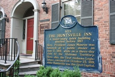 Site The Huntsville Inn Marker image. Click for full size.