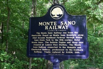 Monte Sano Railway Marker image. Click for full size.