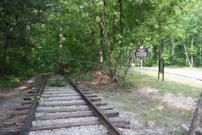 The former Monte Sano Railway roadbed image. Click for full size.