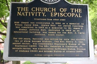 The Church Of The Nativity, Episcopal Marker Side B image. Click for full size.