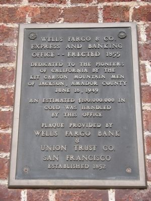 Wells Fargo & Co. Express and Banking Office Marker image. Click for full size.