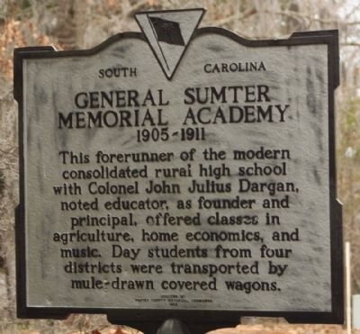 General Sumter Memorial Academy Marker image. Click for full size.