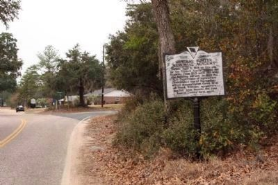 General Sumter Memorial Academy Marker seen at Action Road near Meeting House Road image. Click for full size.