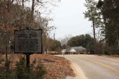 General Sumter Memorial Academy Marker, looking northeast along Action Road image. Click for full size.