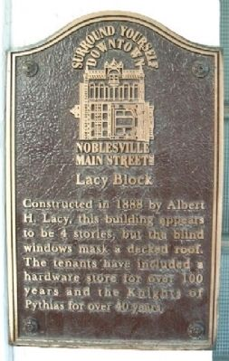 Lacy Block Marker image. Click for full size.
