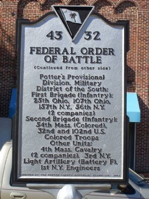 Federal Order Of Battle Marker image. Click for full size.