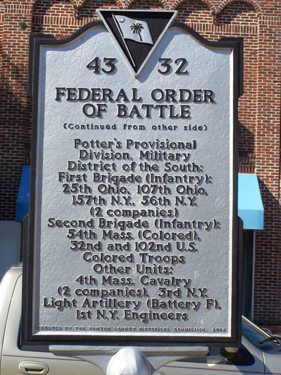 Federal Order Of Battle Marker