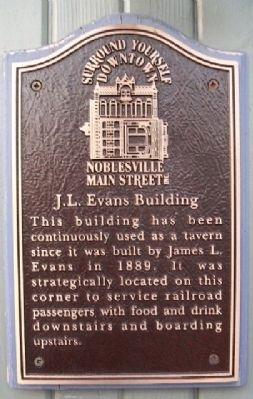 J. L. Evans Building Marker image. Click for full size.