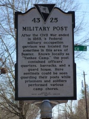 Military Post Marker image. Click for full size.