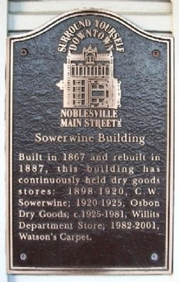 Sowerwine Building Marker image. Click for full size.