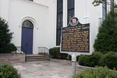 Methodism brought into area 1807 First United Methodist Church Marker image. Click for full size.