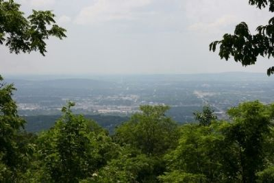 The view from the Burritt Museum site. atop Round Top Mountain image. Click for full size.