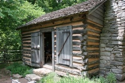 Gardiner Cabin c.1845 one of the many historic structures on display at the Burritt Musuem image. Click for full size.