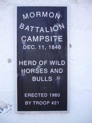 Mormon Battalion Marker image. Click for full size.