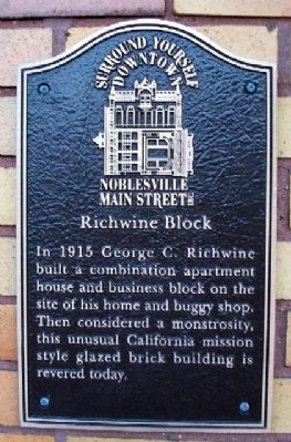 Richwine Block Marker image. Click for full size.