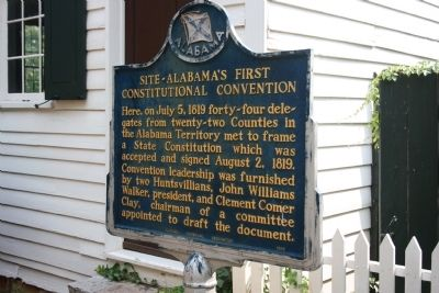 Site - Alabama's First Constitutional Convention Marker image. Click for full size.