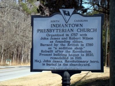 Indiantown Presbyterian Church Marker image. Click for full size.