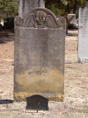 Major John James Gravestone image. Click for full size.
