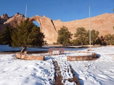 In Remembrance of Our Warriors Marker, Centerpoint of Navajo Nation Park image. Click for full size.