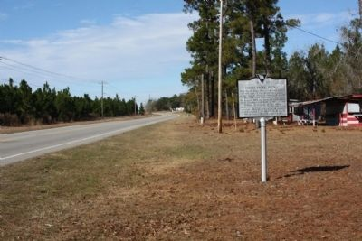 Good Hope Picnic Marker, looking northbound along McCord's Ferry Rd. (S.C. Hwy. 267) image. Click for full size.