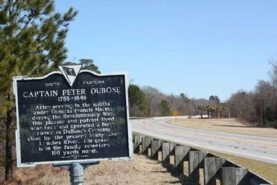 Captain Peter DuBose Marker, looking east at todays Lynches River Bridge image. Click for full size.