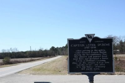Captain Peter DuBose Marker, looking westward along Hartsville Highway (US 15) image. Click for full size.