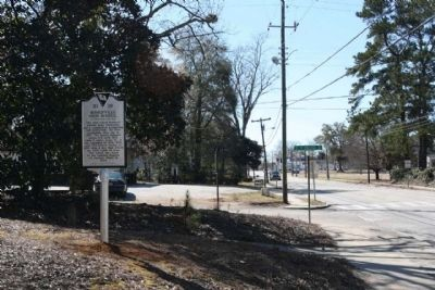 Bishopville High School Marker seen along North Main Street (US 15, State Road 34, State Road 341) image. Click for full size.