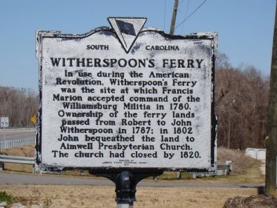 Witherspoon's Ferry Face of Marker image. Click for full size.