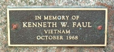 Kenneth W. Faul Memorial Marker image. Click for full size.