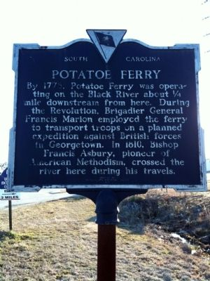 Early Settlers / Potatoe Ferry Marker (reverse) image. Click for full size.