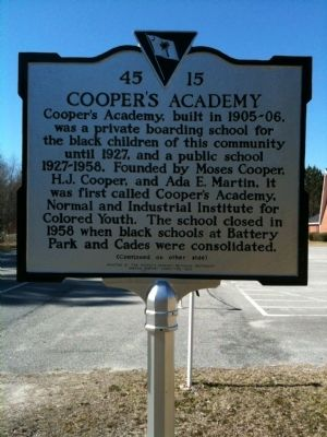 Cooper's Academy / Bethesda Methodist Marker (front) image. Click for full size.