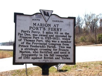 Marion at Port's Ferry Face of Marker image. Click for full size.