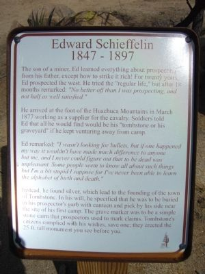 Edward Schieffelin Marker image. Click for full size.
