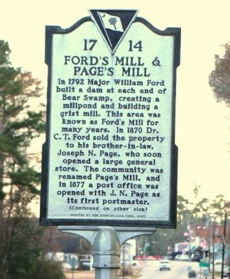 Ford's Mill & Page's Mill Face of Marker image. Click for full size.