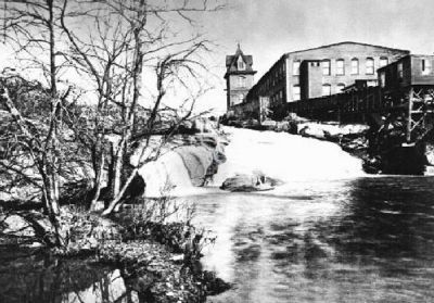 Camperdown Mill -<br>Greenville&#39;s 1st Post-bellum Textile Mill<br>Now the Location of Bowater, Inc. image. Click for more information.