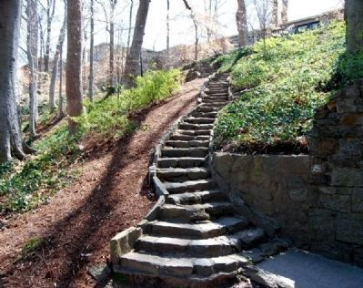 Stone Staircase Leading to Furman College Way image. Click for full size.