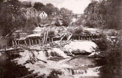 Reedy River Falls and Vardry Mill image. Click for full size.